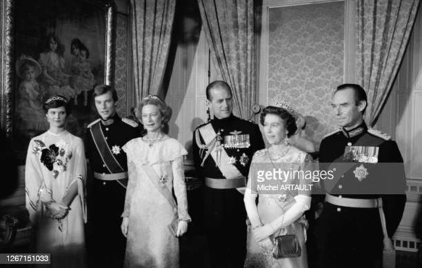 Marie-Astrid de Luxembourg, le grand-duc Henri de Luxembourg, Joséphine-Charlotte de Belgique, grande duchesse de Luxembourg, le Prince Philip, la...