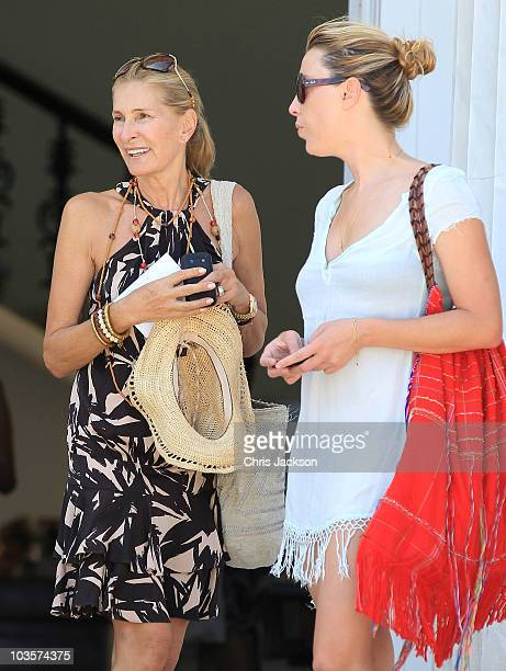 Marie-Blanche Brillembourg leaves the Poseidon Hotel on the island of Spetses on August 24, 2010 in Spetses, Greece.The small greek Island, three...