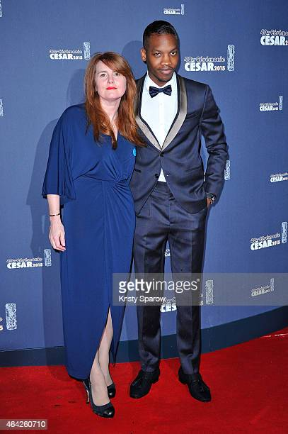 MarieCastille MentionSchaar and Ahmed Drame attend the 40th Cesar Film Awards at Theatre du Chatelet on February 20 2015 in Paris France