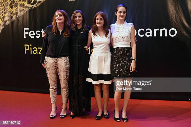 MarieCastille MentionSchaar Clotilde Courau Naomi Armager and Noemi Merlant attend 'Le ciel attendra' premiere during the 69th Locarno Film Festival...