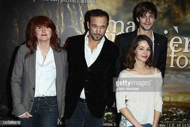 MarieCastille MentionSchaar Vincent Perez Martin Cannavo and Esther Comar attend 'Ma Premiere Fois' Premiere at UGC Cine Cite Bercy on January 17...