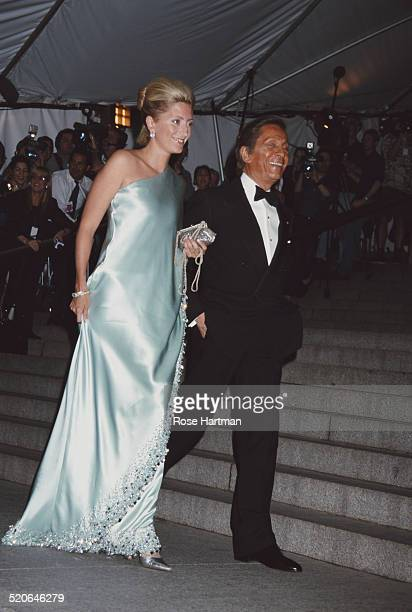 MarieChantal Crown Princess of Greece with Italian fashion designer Valentino Garavani attend the Met Costume Institute Benefit Gala New York City...