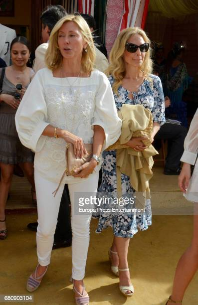 MarieChantal of Greece and her sister Pia Getty attend 2017 April's Fair on May 4 2017 in Seville Spain