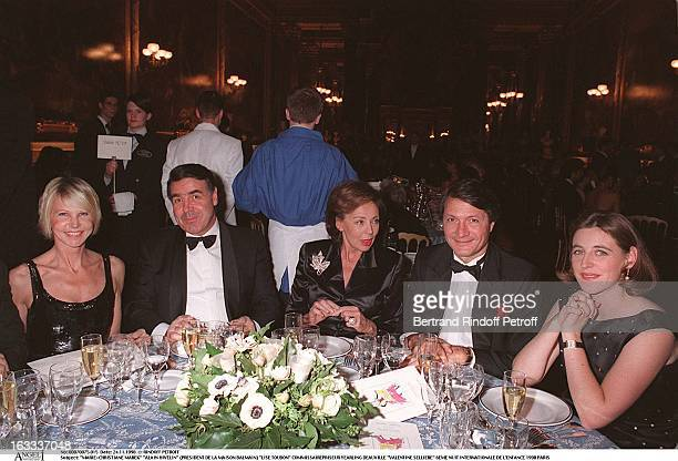 MarieChristiane Marek Alain Hivelin Lise Toubon Yearling Deauville Valentine Selliere at The Sixth Night Of Internationale De L' Enfance In Paris 1998