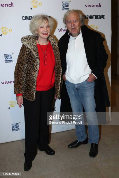 MarieChristine Adam and JeanPaul Solal attend the Tribute to James Ivory at Cinematheque Francaise on January 15 2020 in Paris France
