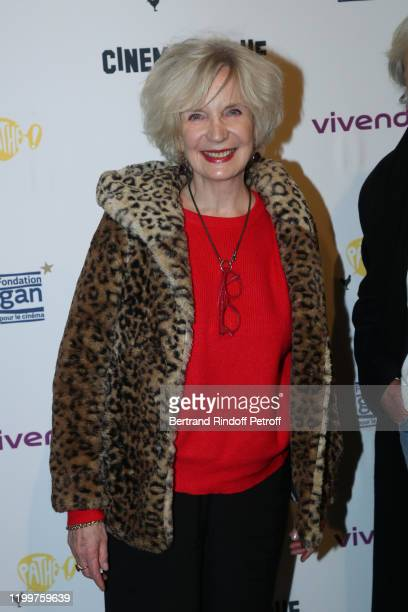MarieChristine Adam attends the Tribute to James Ivory at Cinematheque Francaise on January 15 2020 in Paris France