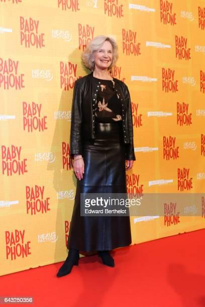 MarieChristine Adam during Baby Phone Paris Premiere at Cinema UGC Normandie on February 20 2017 in Paris France