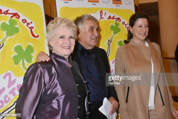 MarieChristine Barrault a guest and minister Agnes Buzyn attend 26th Gala de L'Espoir Ligue contre Le Cancer at Theatre des Champs Elysees on October...