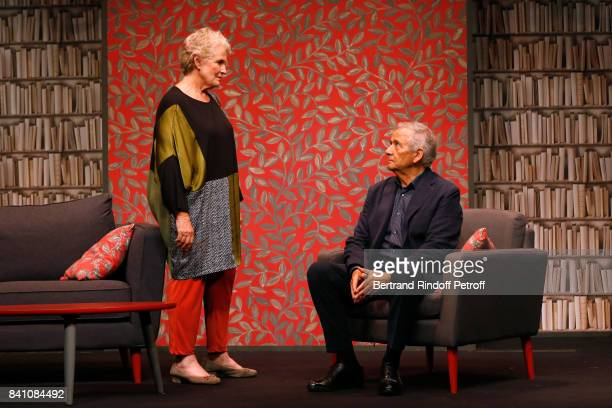 MarieChristine Barrault and Alain Doutey perform in 'Confidences' Press Theater Play at Theatre Rive Gauche on August 28 2017 in Paris France