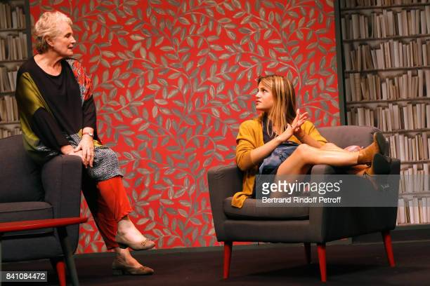 MarieChristine Barrault and Claudia Dimier perform in 'Confidences' Press Theater Play at Theatre Rive Gauche on August 28 2017 in Paris France