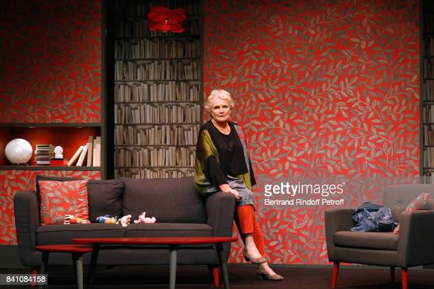 MarieChristine Barrault performs in 'Confidences' Press Theater Play at Theatre Rive Gauche on August 28 2017 in Paris France