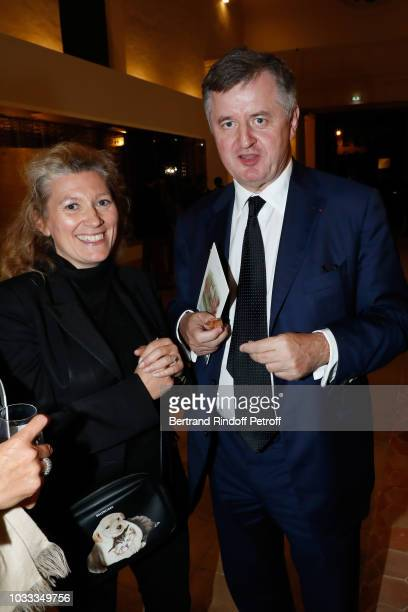 MarieClaire Daveu and CEO of 'Aeroports de Paris ADP' Augustin de Romanet attend the Kering Heritage Days Opening Night at 40 Rue de Sevres on...