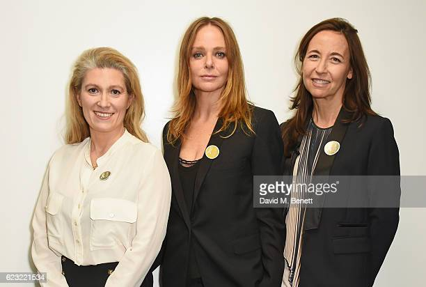 MarieClaire Daveu Chief Sustainability Officer at Kering designer Stella McCartney and Beatrice Lazat Human Resources Director at Kering attend the...