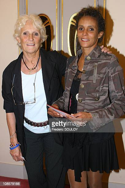 Marie-Claire Noah and her daughter Nathalie in Paris,France on May 19,2006.