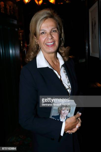 MarieDominique de Montmarin attends Eve Ruggieri signs her Book 'Dictionnaire amoureux de Mozart' at Maxim's on November 16 2017 in Paris France