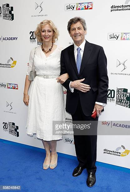 MarieElsa Bragg and Lord Melvyn Bragg arrive for the The South Bank Sky Arts Awards at The Savoy Hotel on June 5 2016 in London England