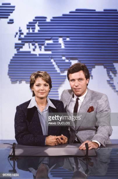 MarieFrance Cubadda et Bruno Masure à Paris France le 11 janvier 1986