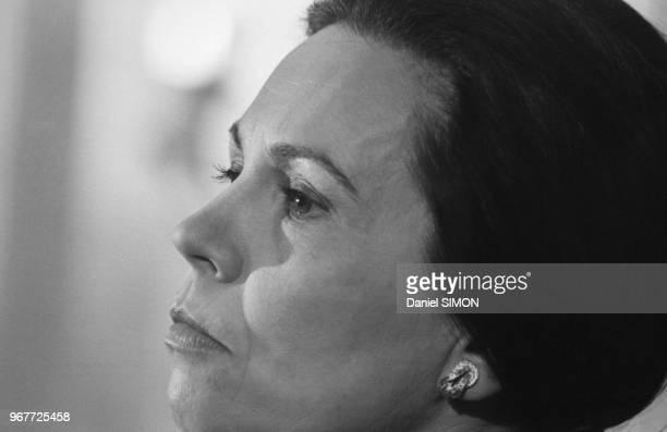 MarieFrance Garaud candidate indépendante à l'élection présidentielle 20 mars 1981 Paris France