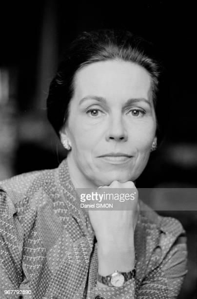 MarieFrance Garaud chez elle à Paris le 25 octobre 1980 à Paris France