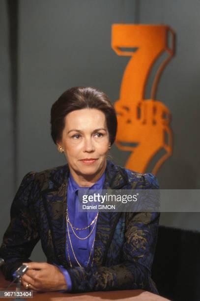 MarieFrance Garaud dans l'émission '7 sur 7' le 13 mai 1984 à Paris France