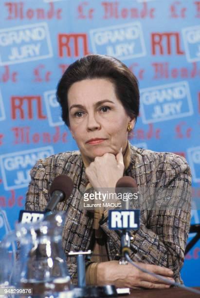 MarieFrance Garaud dans l'émission 'La Grand jury' sur RTL le 5 janvier 1986 à Paris France