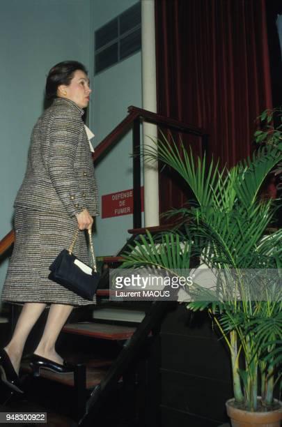 MarieFrance Garaud en campagne pour les élections législatives dans les Yvelines le 11 février 1986 France