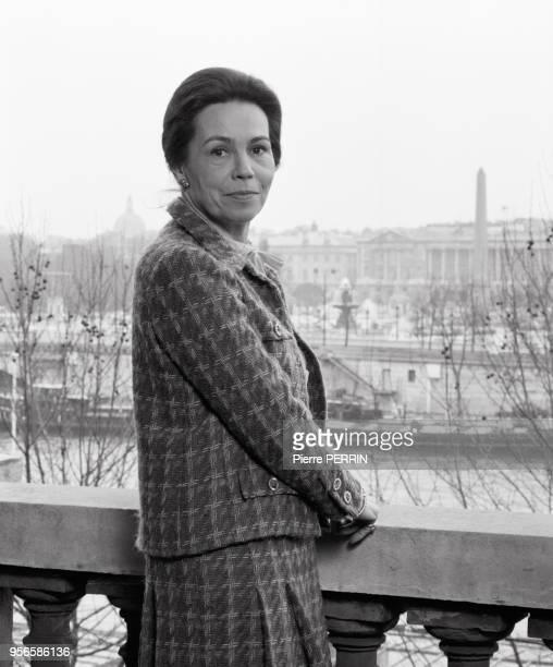 MarieFrance Garaud femme politique en mars 1984 à Paris France