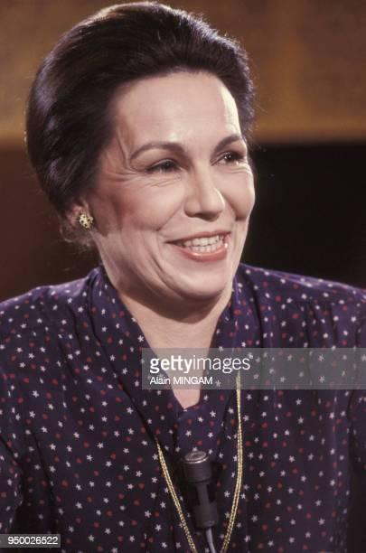 MarieFrance Garaud à la télévision circa 1980 à Paris France