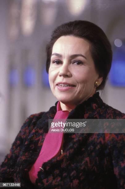 MarieFrance Garaud à la télévision le 18 décembre 1985 à Paris France