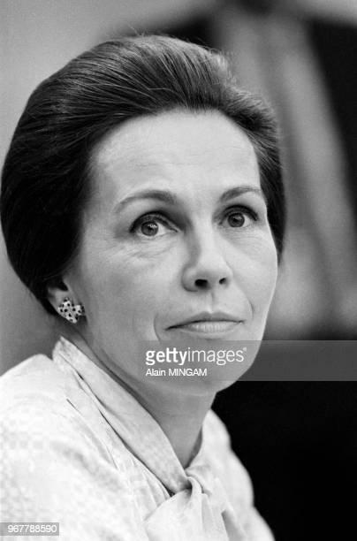MarieFrance Garraud invité de l'émission 'Le Club de la Presse' sur Europe 1 à Paris le 21 septembre 1980 France