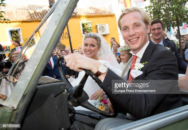 MarieGabrielle of Nassau and Antonius Willms attend their wedding on September 2 2017 in Marbella Spain