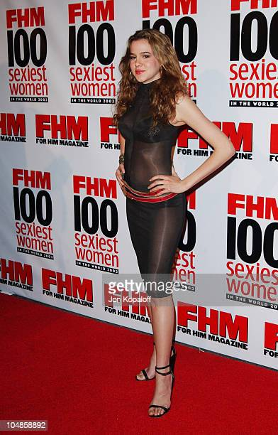 Marieh Delfino during FHM's 100 Sexiest Women in the World Party CoSponsored by Smirnoff Vodka at Raleigh Studios in Hollywood California United...
