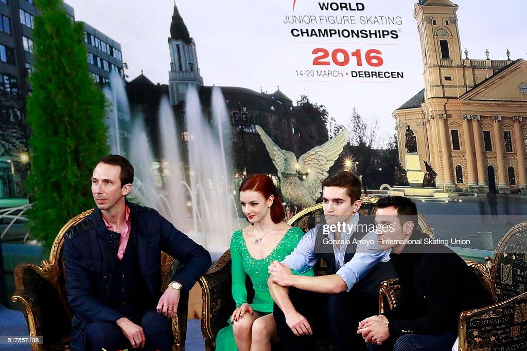 World Junior Figure Skating Championships 2016 Debrecen - Day 2