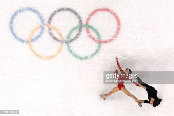 Marie-Jade Lauriault and Romain Le Gac of France compete in the Figure Skating Ice Dance Free Dance on day eleven of the PyeongChang 2018 Winter...