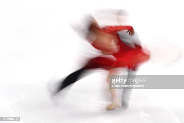 MarieJade Lauriault and Romain Le Gac of France compete in the Figure Skating Ice Dance Free Dance on day eleven of the PyeongChang 2018 Winter...