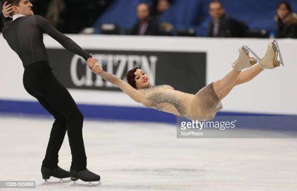 MarieJade Lauriault and Romain Le Gac of France compete in the Ice Dance Rhythm Dance during day three of the ISU European Figure Skating...