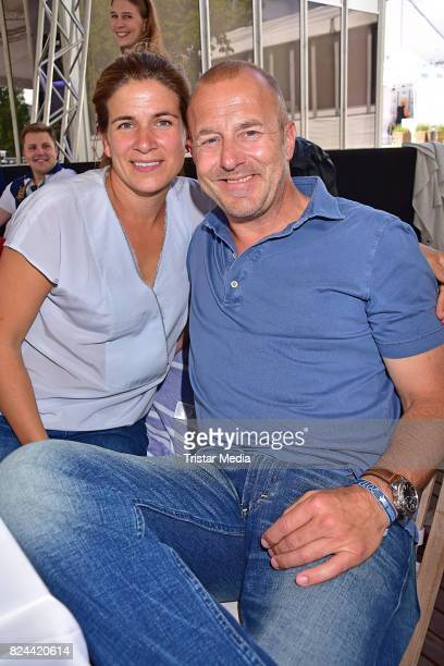 MarieJeanette Ferch and Heino Ferch during the Global Jumping at Longines Global Champions Tour at Sommergarten unter dem Funkturm on July 29 2017 in...