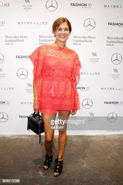 MarieJeanette Ferch attends the Laurel show during the MercedesBenz Fashion Week Berlin Spring/Summer 2018 at Kaufhaus Jandorf on July 4 2017 in...