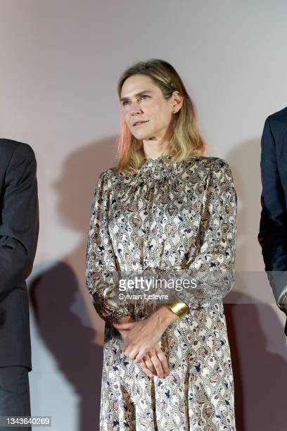 Marie-Josée Croze attends the closing ceremony on day five of the Valenciennes Film FestivalSeptember 28, 2021 in Valenciennes, France.