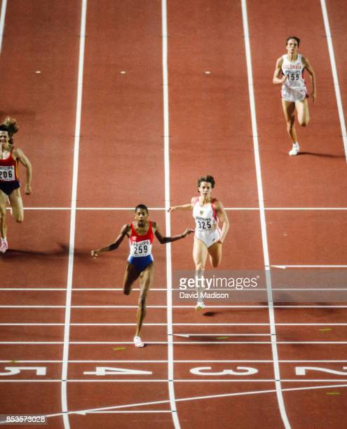 MarieJose Perec of France wins the Women's 400 meter event of the 1991 IAAF World Championships on August 27 1991 at the National Olympic Stadium in...