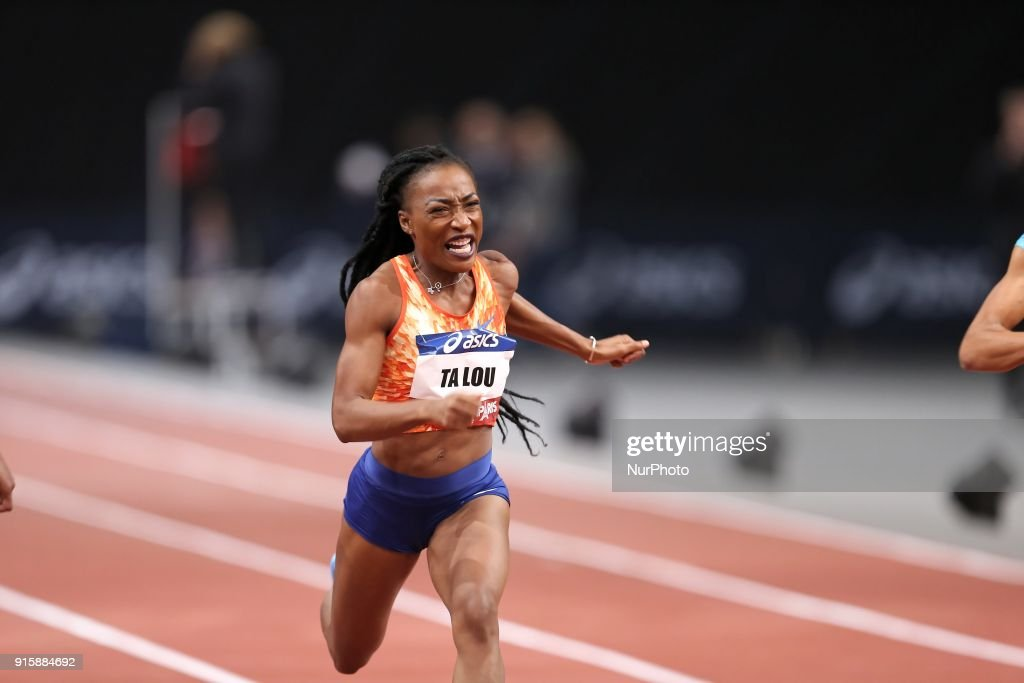 Marie-Josée Ta Lou of Ivory Coast wins the 60m during the Athletics Indoor Meeting of Paris 2018, at AccorHotels Arena (Bercy) in Paris, France on February 7, 2018.