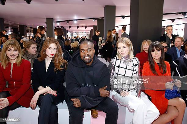 MarieJosee Croze Agathe Bonitzer Kanye West Elena Perminova and Miroslava Duma attend the Christian Dior show as part of the Paris Fashion Week...