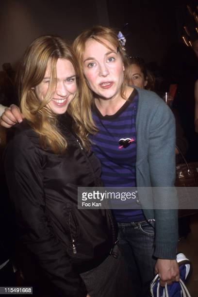 MarieJosee Croze and Julie Depardieu attend the Maje Paris St Sulpice Shop Opening Party on October 152007 In Paris France