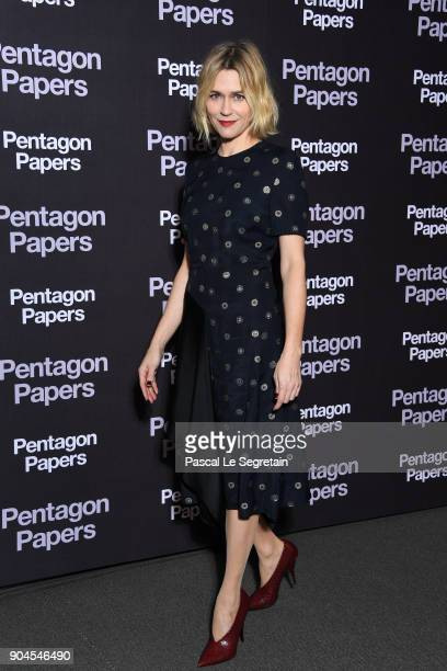 MarieJosee Croze attends 'Pentagon Papers' Premiere at Cinema UGC Normandie on January 13 2018 in Paris France