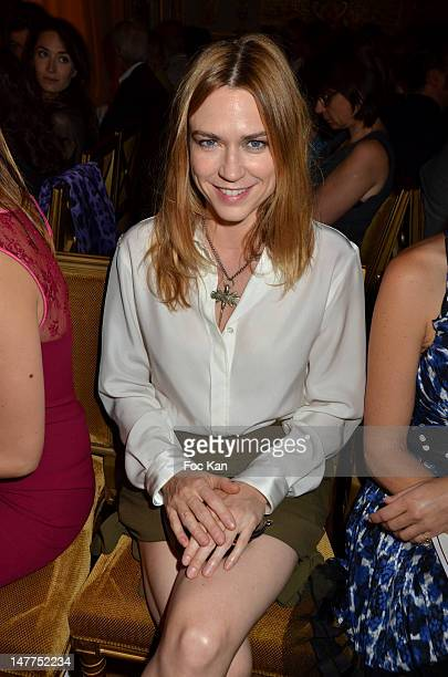 MarieJosee Croze attends the Alexis Mabille HauteCouture Show as part of Paris Fashion Week Fall / Winter 2013 at Hotel ShangriLa on July 2 2012 in...