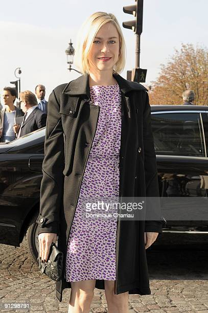 MarieJosee Croze attends the Balenciaga Pret a Porter show as part of the Paris Womenswear Fashion Week Spring/Summer 2010 on October 1 2009 in Paris...