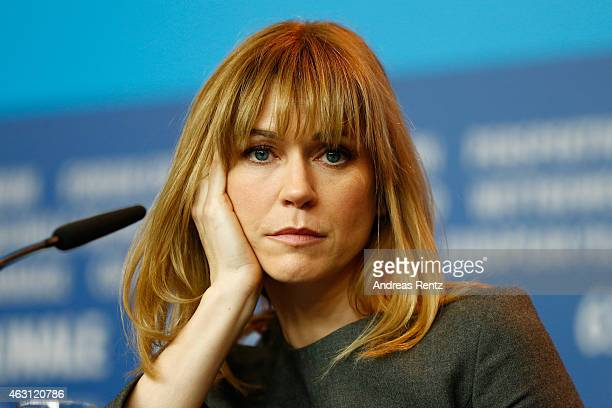 MarieJosee Croze attends the 'Every Thing Will Be Fine' press conference during the 65th Berlinale International Film Festival at Grand Hyatt Hotel...