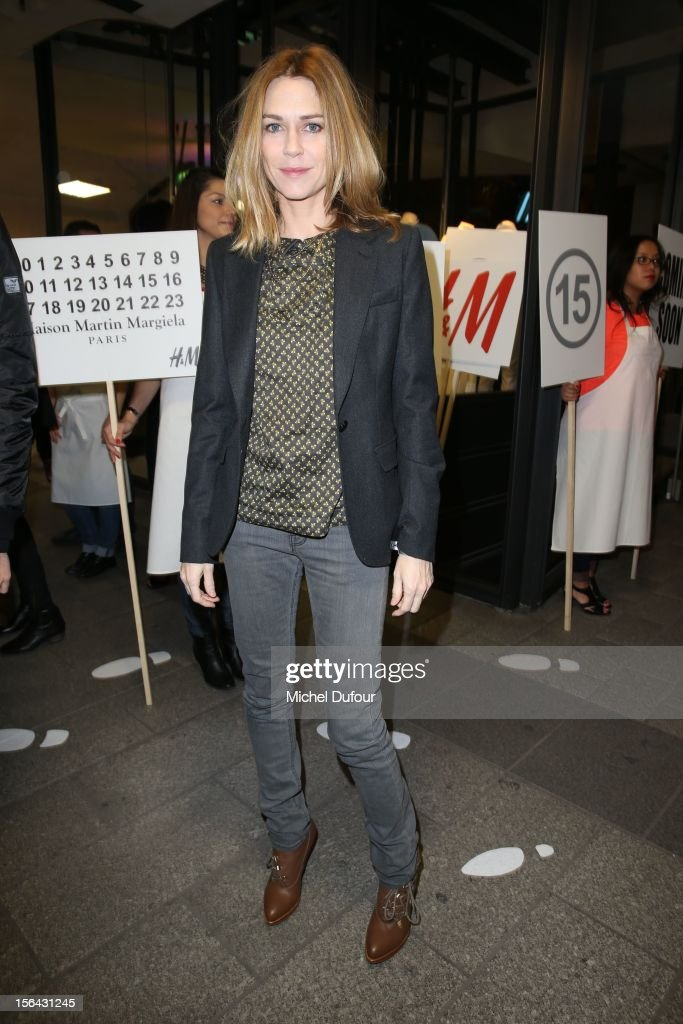 Marie-Josee Croze attends the Maison Martin Margiela With H&M Collection Launch at H&M Champs Elysees on November 14, 2012 in Paris, France.