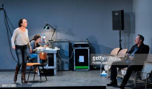 Marieke Heebink as Rachel Gaite Jansen as Anna and Gijs Scholten van Aschat as Hendrik Vogler in Taneelgroup Amsterdam's production of Ingmar...