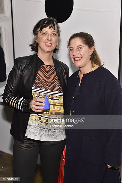 Mariel Farden and Andrea Feldman Falcione attend the LAXART's 10 Year Anniversary Benefit Presented By Distinct on November 15 2015 in Los Angeles...